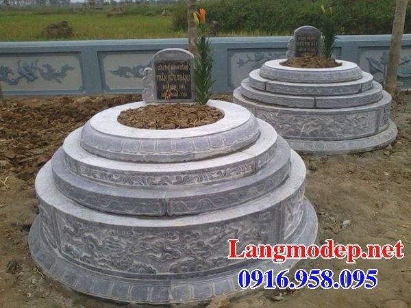 Mẫu lăng mộ tròn đẹp bằng đá tự nhiên 05