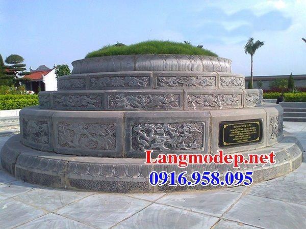Mẫu lăng mộ tròn đẹp bằng đá tự nhiên 07