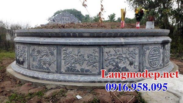 Mẫu lăng mộ tròn đẹp bằng đá tự nhiên 08