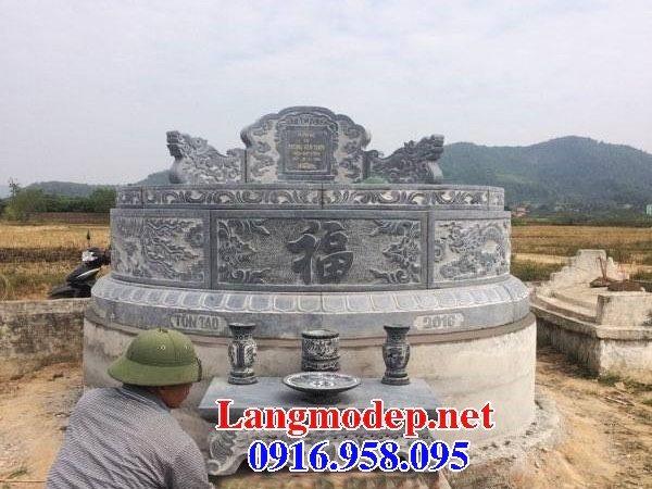 Mẫu lăng mộ tròn đẹp bằng đá tự nhiên 10