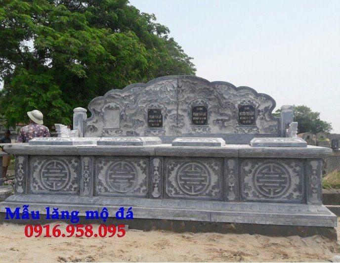 Mẫu mộ ba bốn ngôi liền nhau bằng đá đẹp 06