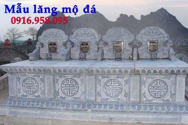 Mẫu mộ ba bốn ngôi liền nhau bằng đá đẹp 11
