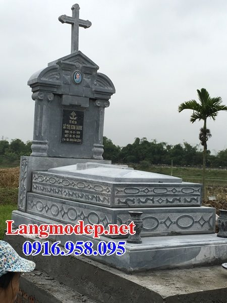 Mẫu mộ của người theo công giáo bằng đá đẹp