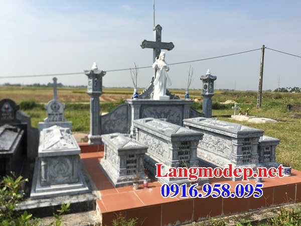 Mẫu mộ của người theo công giáo bằng đá đẹp 03