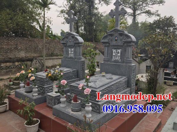 Mẫu mộ của người theo công giáo bằng đá đẹp 04