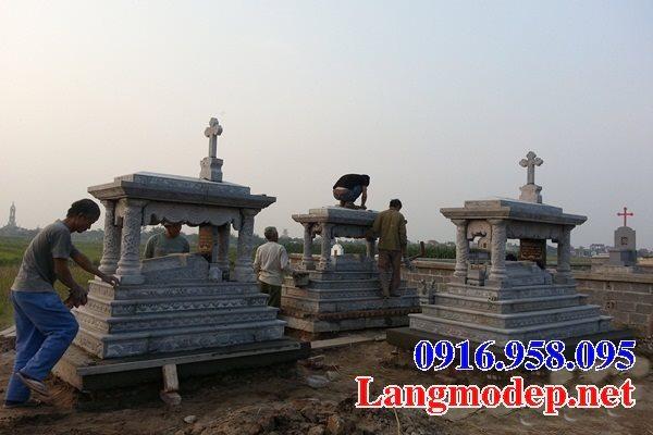 Mẫu mộ của người theo công giáo bằng đá đẹp 05