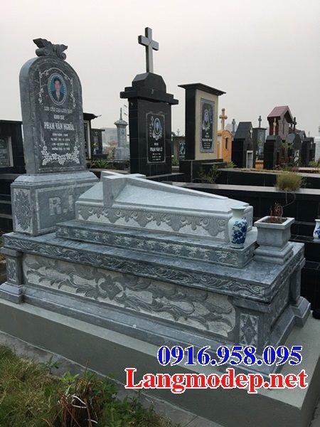Mẫu mộ của người theo công giáo bằng đá đẹp 06
