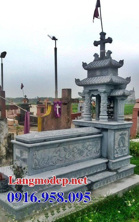 Mẫu mộ của người theo công giáo bằng đá đẹp 09