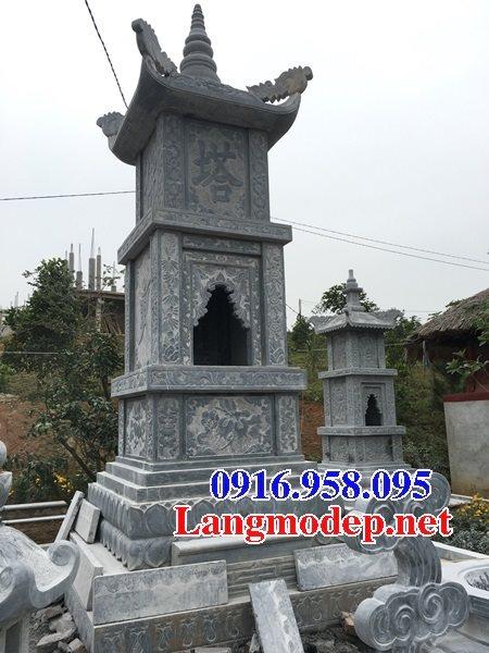 Mẫu mộ tháp để hài cốt bằng đá xanh đẹp 02