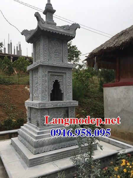 Mẫu mộ tháp để hài cốt bằng đá xanh đẹp 04