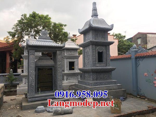 Mẫu mộ tháp để hài cốt bằng đá xanh đẹp 06