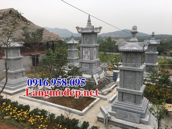 Mẫu mộ tháp để hài cốt bằng đá xanh đẹp
