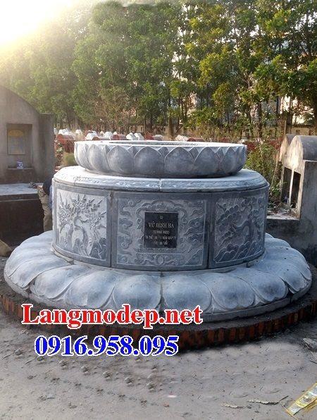 Xây mộ hình tròn đẹp bằng đá xanh tự nhiên
