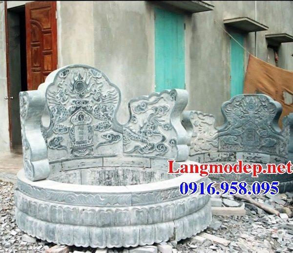 Xây mộ hình tròn đẹp bằng đá xanh tự nhiên 09