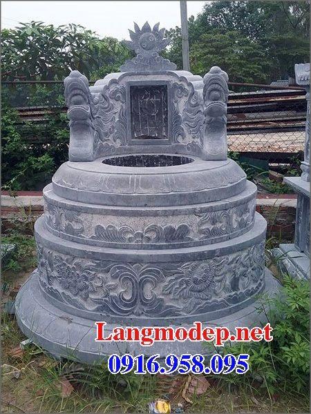 Xây mộ hình tròn đẹp bằng đá xanh tự nhiên 10