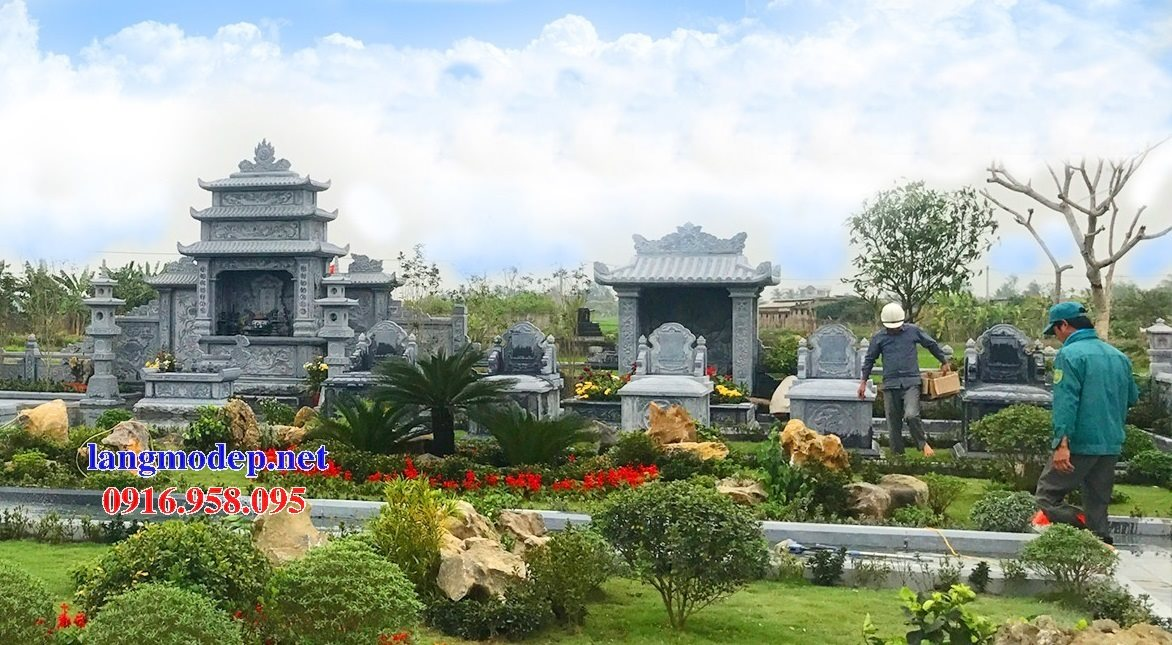 100 Mẫu khu lăng mộ đá xanh đẹp nhất 02
