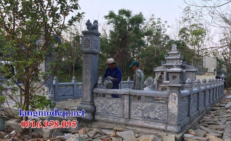 100 Mẫu khu lăng mộ đá xanh đẹp nhất 20