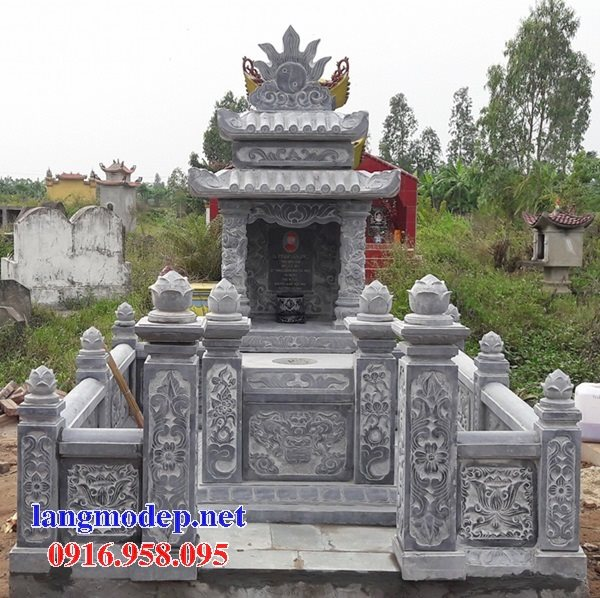 100 Mẫu khu lăng mộ đá xanh đẹp nhất 53