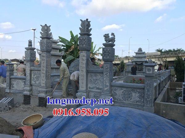 Mẫu lăng mộ đá gia tiên thiết kế hiện đại 07