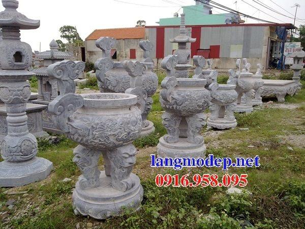 100 Mẫu lư hương đỉnh hương nhà thờ họ từ đường đình đền chùa miếu bằng đá đẹp bán tại đắk nông