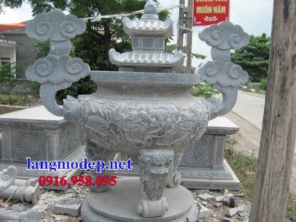 100 Mẫu lư hương đỉnh hương nhà thờ họ từ đường đình đền chùa miếu bằng đá đẹp bán tại điện biên