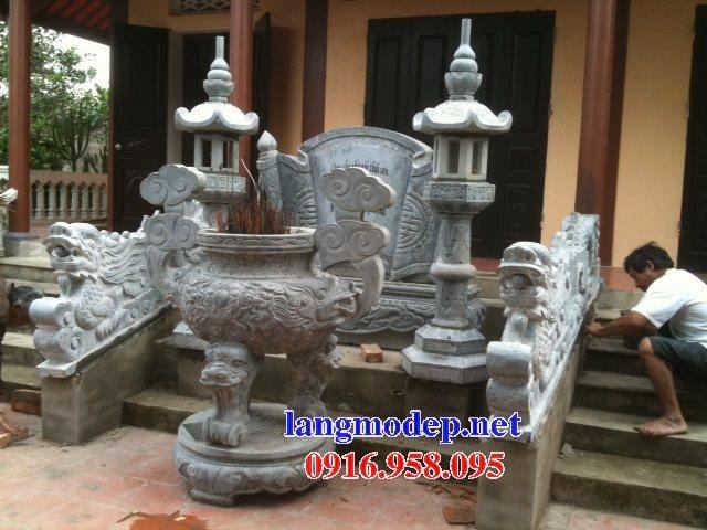 100 Mẫu lư hương đỉnh hương nhà thờ họ từ đường đình đền chùa miếu bằng đá đẹp bán tại Vĩnh long