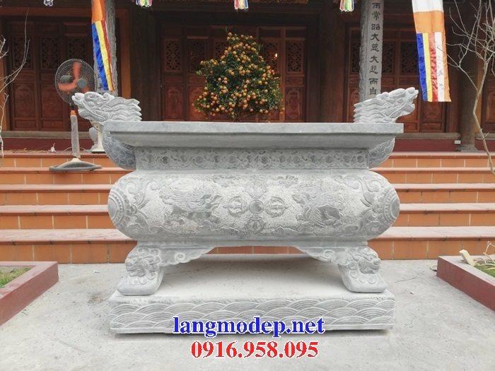 100 Mẫu lư hương đỉnh hương nhà thờ họ từ đường đình đền chùa miếu bằng đá đẹp bán tại bình định