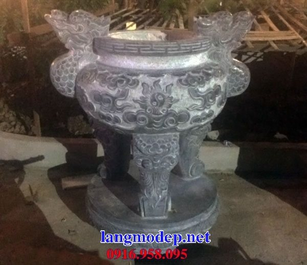 100 Mẫu lư hương đỉnh hương nhà thờ họ từ đường đình đền chùa miếu bằng đá đẹp bán tại hà giang