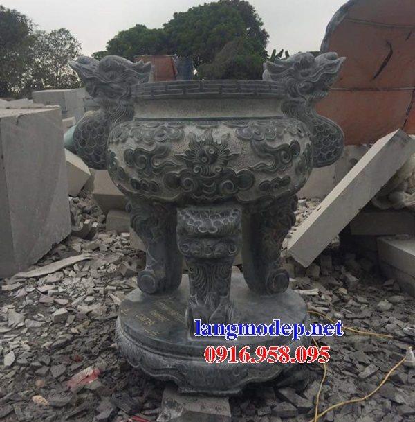 100 Mẫu lư hương đỉnh hương nhà thờ họ từ đường đình đền chùa miếu bằng đá đẹp bán tại hà tĩnh