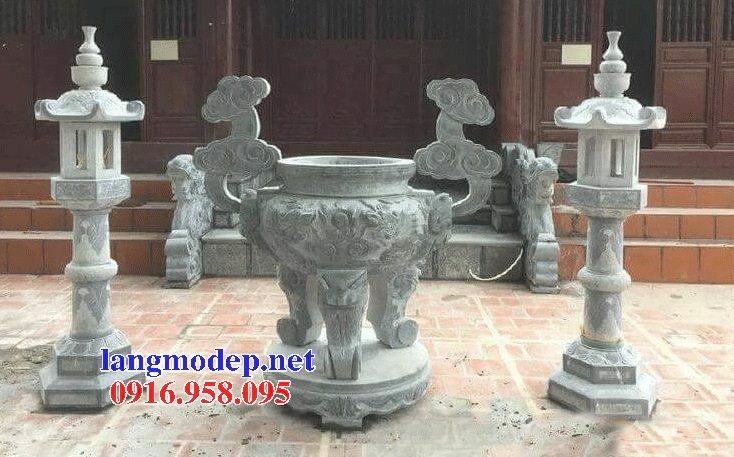100 Mẫu lư hương đỉnh hương nhà thờ họ từ đường đình đền chùa miếu bằng đá đẹp bán tại hải phòng