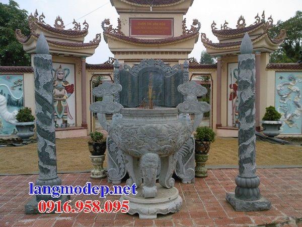 100 Mẫu lư hương đỉnh hương nhà thờ họ từ đường đình đền chùa miếu bằng đá đẹp bán tại hậu giang
