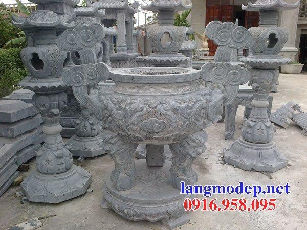 100 Mẫu lư hương đỉnh hương nhà thờ họ từ đường đình đền chùa miếu bằng đá đẹp bán tại kiên giang