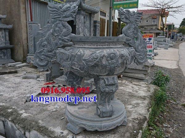 100 Mẫu lư hương đỉnh hương nhà thờ họ từ đường đình đền chùa miếu bằng đá đẹp bán tại lai châu