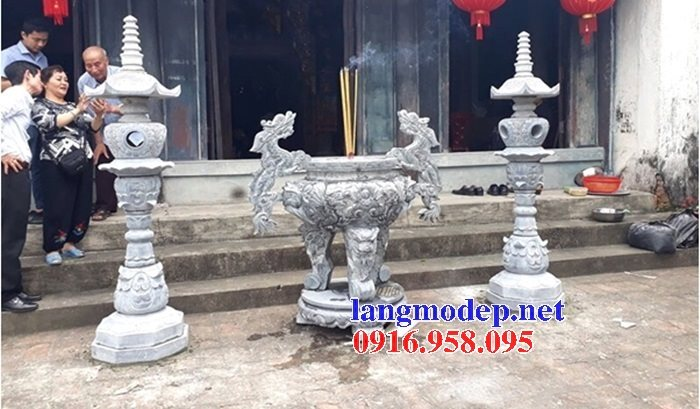 100 Mẫu lư hương đỉnh hương nhà thờ họ từ đường đình đền chùa miếu bằng đá đẹp bán tại nghệ an