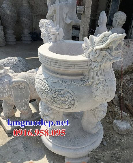 100 Mẫu lư hương đỉnh hương nhà thờ họ từ đường đình đền chùa miếu bằng đá đẹp bán tại ninh bình
