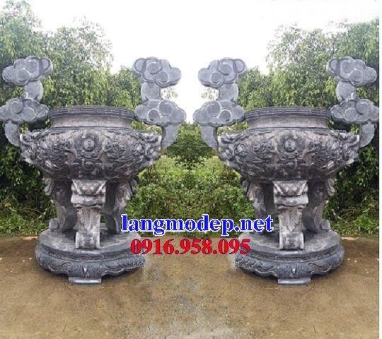 100 Mẫu lư hương đỉnh hương nhà thờ họ từ đường đình đền chùa miếu bằng đá đẹp bán tại phú thọ