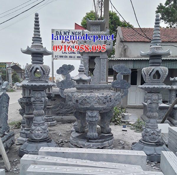 100 Mẫu lư hương đỉnh hương nhà thờ họ từ đường đình đền chùa miếu bằng đá đẹp bán tại quảng ngãi