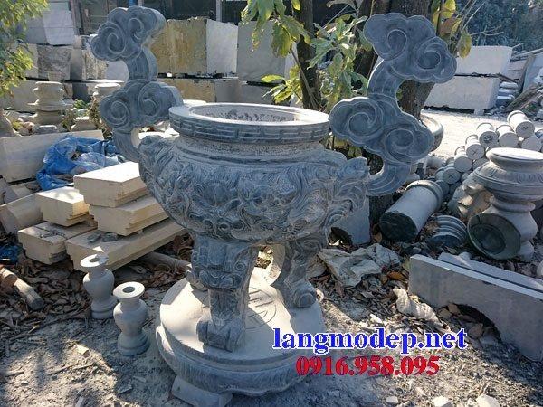 100 Mẫu lư hương đỉnh hương nhà thờ họ từ đường đình đền chùa miếu bằng đá đẹp bán tại yên bái