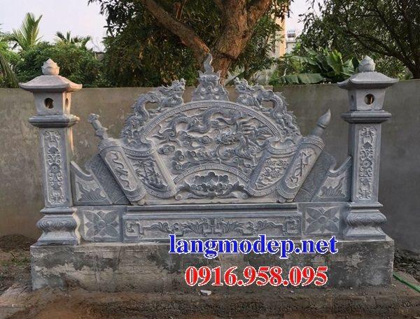 15 Bức bình phong đặt trước cổng nhà thờ tổ tiên bằng đá đẹp nhất hiện nay 15