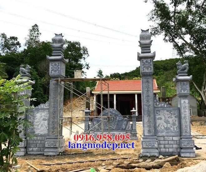 15 Bức bình phong đặt trước cổng nhà thờ tổ tiên dòng họ bằng đá đẹp nhất hiện nay 14