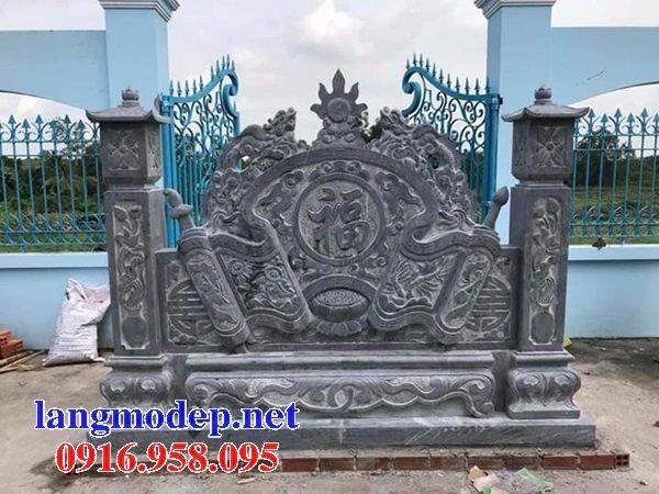 15 Bức bình phong đặt trước cổng nhà thờ tổ tiên gia tộc bằng đá đẹp nhất hiện nay 12