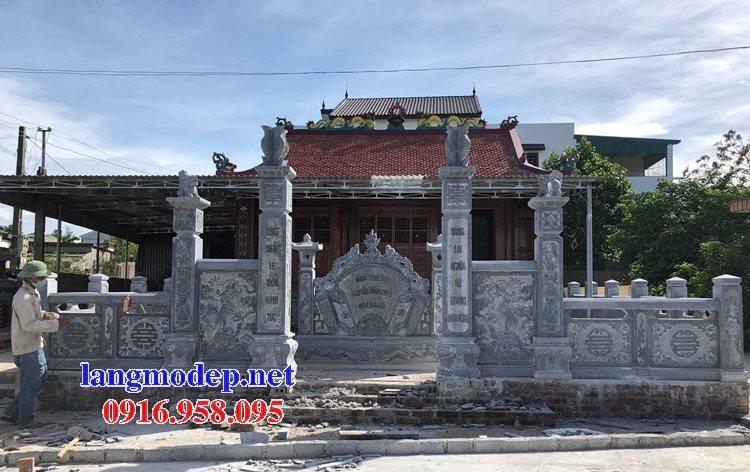 15 Bức bình phong đặt trước cổng nhà thờ tổ tiên gia tiên bằng đá đẹp nhất hiện nay 13