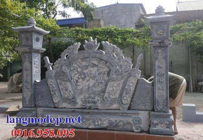 15 Bức bình phong cổng nhà thờ tổ tiên bằng đá đẹp nhất hiện nay thiết kế hiện đại 04