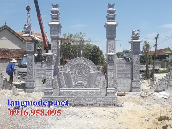 15 Bức bình phong cổng nhà thờ tổ tiên bằng đá