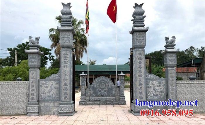 15 Bức bình phong cổng nhà thờ tổ tiên gia tộc bằng đá đẹp nhất hiện nay bán toàn quốc 07