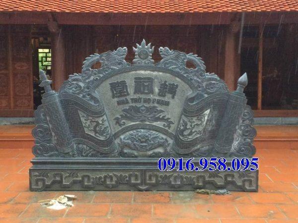 15 Bức bình phong cổng nhà thờ tổ tiên gia tộc bằng đá đẹp nhất hiện nay thiết kế hiện đại 08
