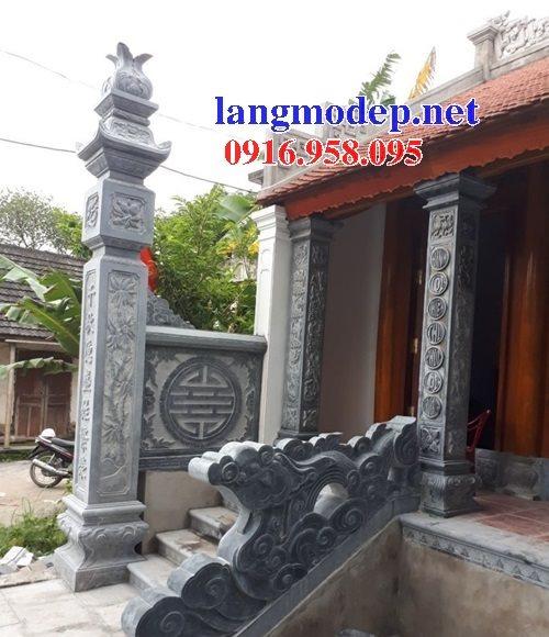 15 Mẫu cột đèn đồng trụ cột hiên nhà thờ họ từ đường đẹp bằng đá bán tại điện biên