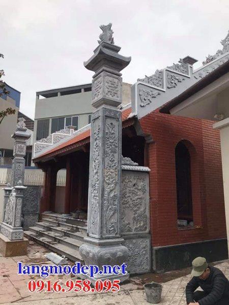 15 Mẫu cột đèn đồng trụ cột hiên nhà thờ họ từ đường đẹp bằng đá bán tại hòa bình
