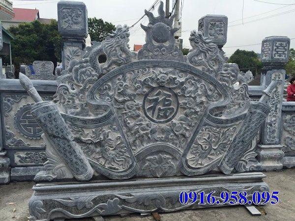 16 Mẫu bức bình phong lăng mộ dòng họ bằng đá đẹp nhất hiện nay bán toàn quốc 12