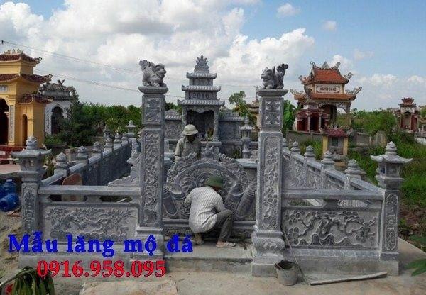16 Mẫu bức bình phong lăng mộ gia tộc bằng đá đẹp nhất hiện nay bán toàn quốc 13